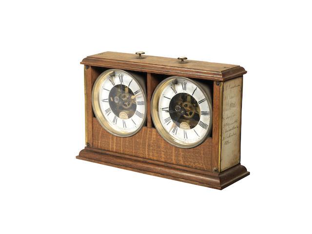 1922 London Chess Tournament Clock