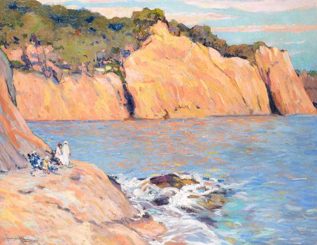 Alexandre Altmann (Russian, 1885-1950) The red cliffs near Cannes