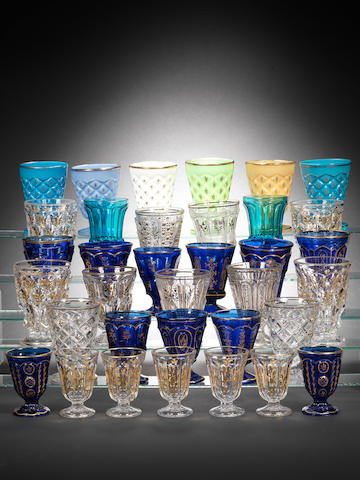 A collection of Ottoman gilt decorated Glasses Turkey, 19th Century57