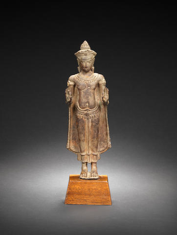 A Khmer bronze of Buddha Cambodia, 12th/ 13th Century