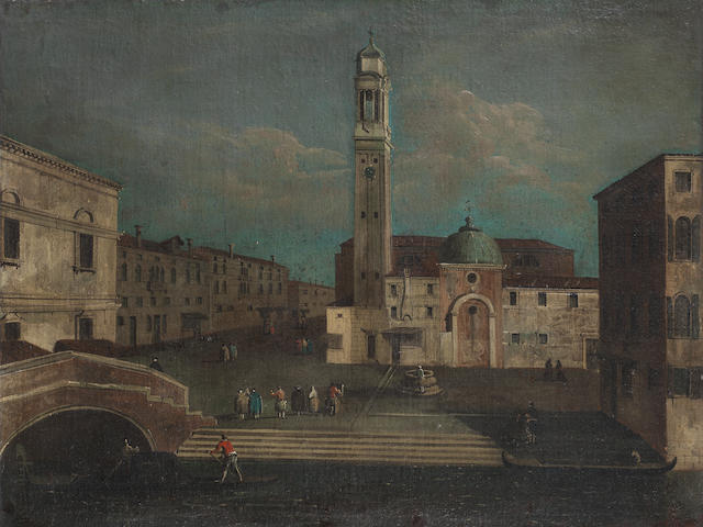 Venetian School, 18th Century A view of Campo Santi Apostoli, Venice