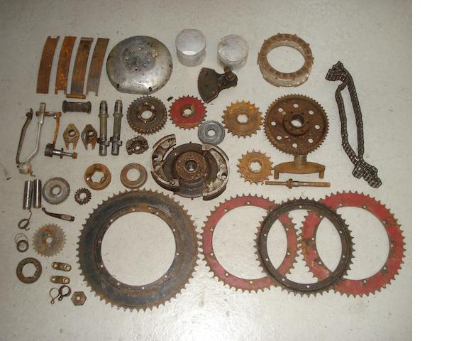 Assorted Vincent mechanical parts,