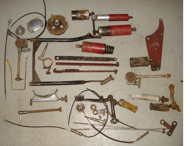 Assorted Vincent Red Rapide mechanical parts,