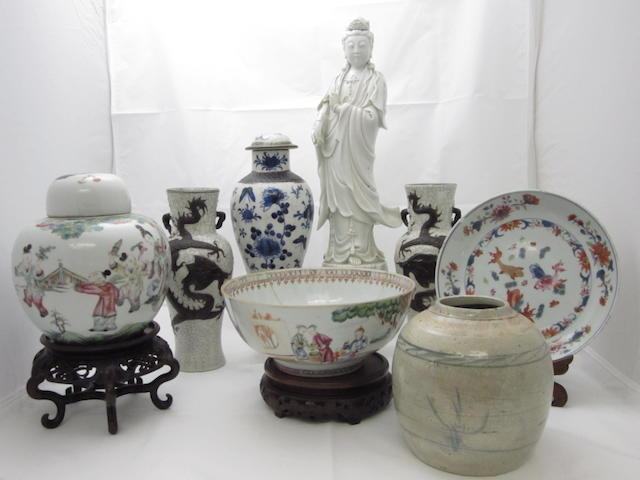 A quantity of assorted ceramics