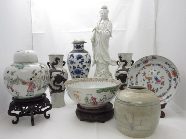 A quantity of assorted ceramics