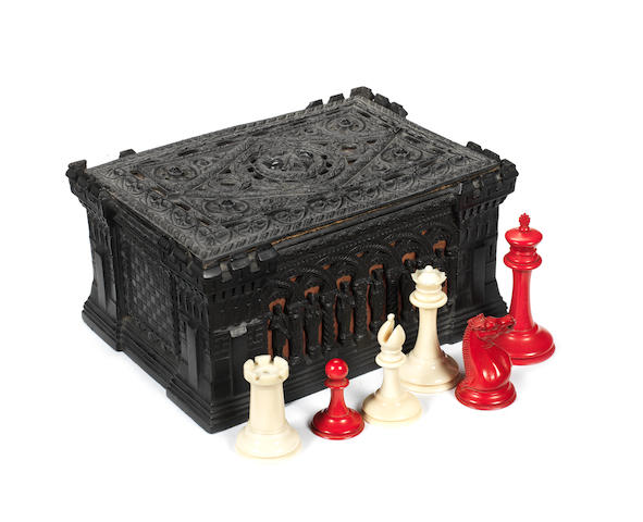A Staunton ivory chess set, Jaques London, circa 1855-70,