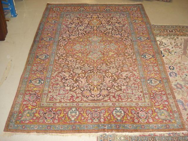 An Isfahan rug, Central Persia, 210cm x 134cm