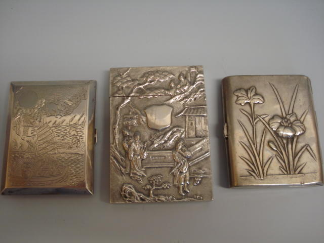 A Chinese card case by Wang Hing and Co,  Hong Kong, circa 1900,  (3)
