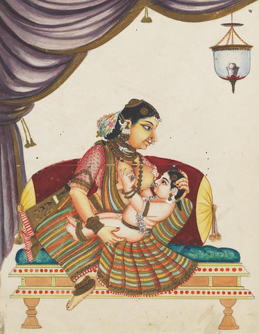 Krishna and Yashoda Orissa, late 19th Century
