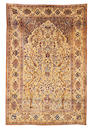 A Kashan silk souf prayer rug, Central Persia, circa 1890, 6 ft 6 in x 4 ft 4 in (198 x 132 cm) good condition throughout