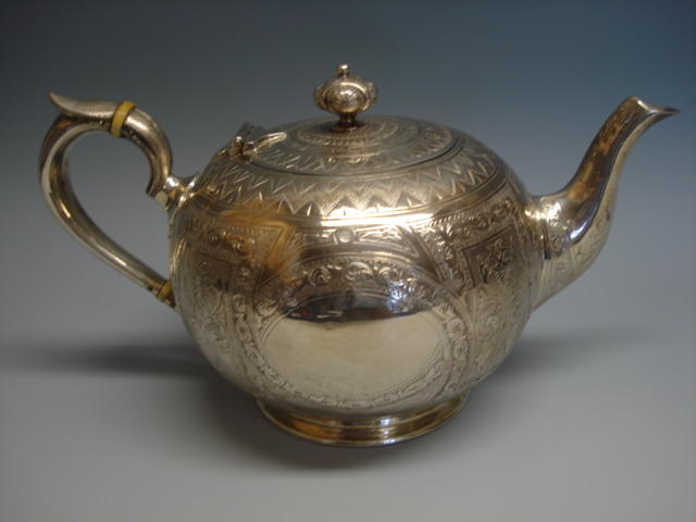 A Victorian Scottish teapot stamped 'Mackay Cunningham & Co',  Edinburgh, 1872,
