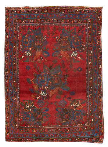 An Afshar rug, South West Persia, circa 1910, 5 ft 3 in x 4ft (160 x 122 cm) localised wear, evidence of corrosion