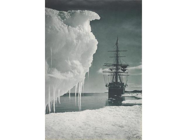 Herbert Ponting, The Terra Nova at the ice foot, Cape Evans, 1911