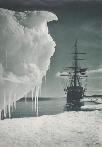 Herbert Ponting, The Terra Nova at the ice foot, Cape Evans, 1911