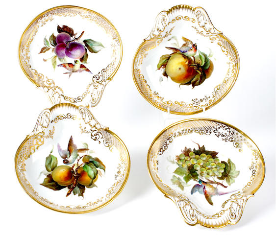 Four Paris dessert dishes, late 19th century