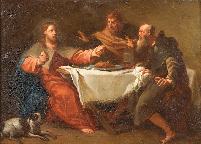 Studio of Sebastiano Ricci (Belluno 1659-1734 Venice) The Supper at Emmaus
