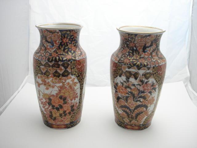 A pair of Imari vases Circa 1900
