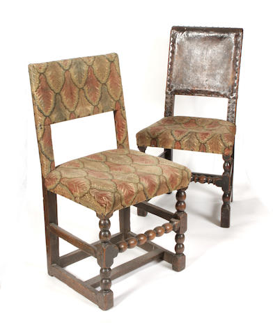 Two 17th century Spanish oak chairs