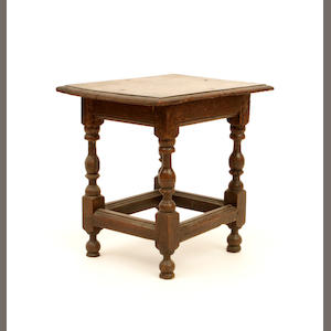 A 17th century oak stool