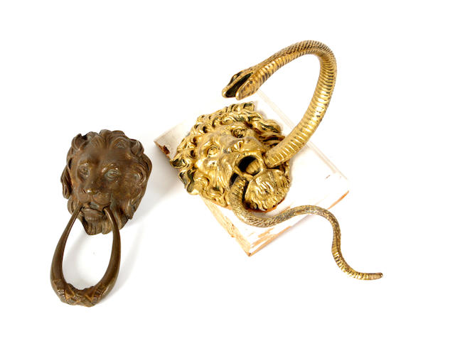 A Regency ormolu curtain tie back