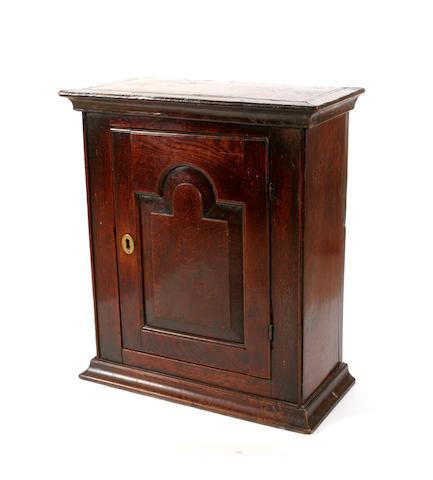 An 18th century oak cabinet