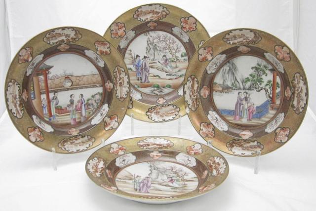 Seven soup plates Qianlong period