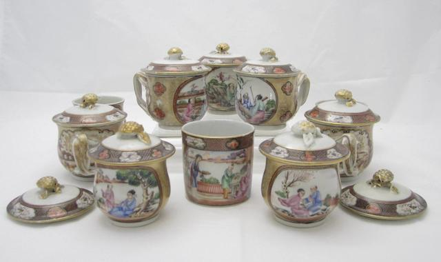 A collection of cups Qianlong period