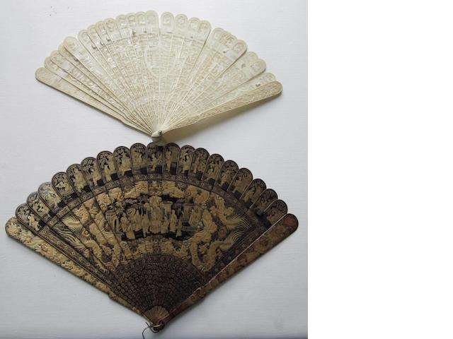 Two export fans Late 19th century