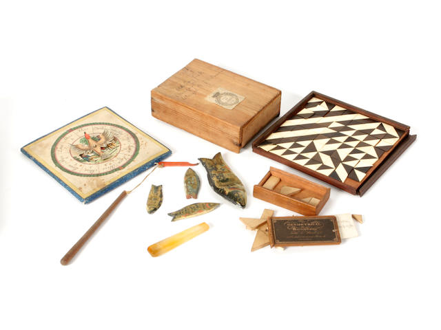 A collection of 19th century games and puzzles