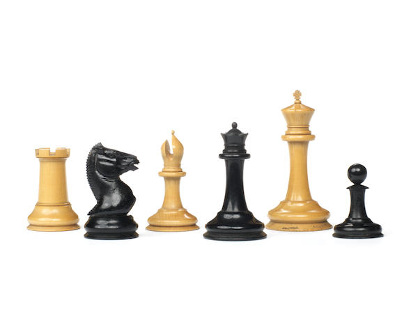 An early Staunton boxwood and ebony chess set, Jaques London, 1849,