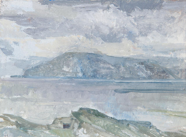 Peter Greenham (British, 1909-1992) Isle of Arran from Kintyre