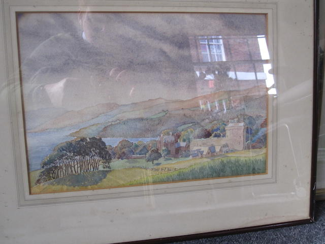 A Scottish landscape- with monogram dated 1934