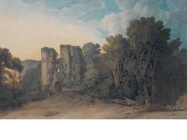 Francis Towne (British, 1739-1816) Berry Pomeroy Castle in the County of Devon