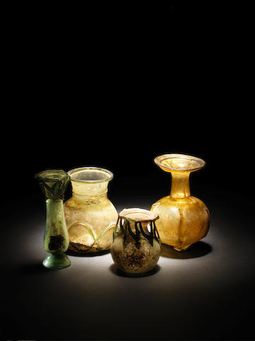 Four Roman glass vessels 4