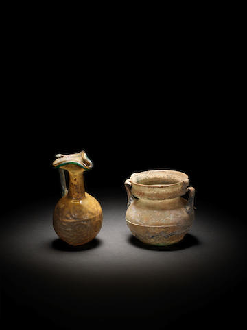 Two Roman glass vessels 2