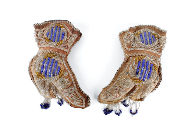 A pair of Iroquois whimsy beaded boots