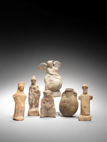 Six Classical terracottas