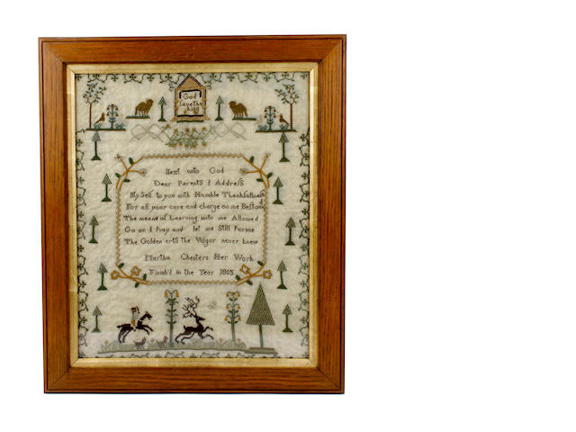 An early 19th century sampler