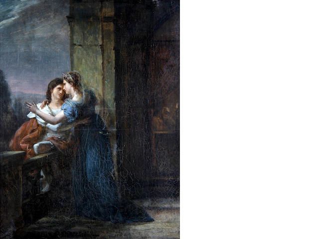 Louis-Charles-Auguste Couder (French, 1790-1873) Two lovers