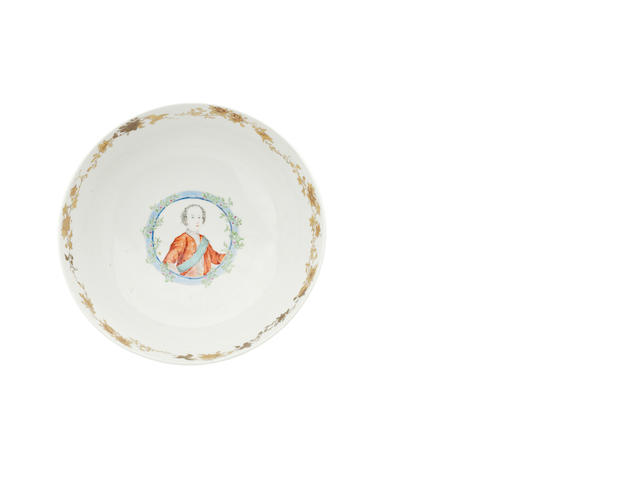 Of Jacobite interest: a famille rose punchbowl Qianlong