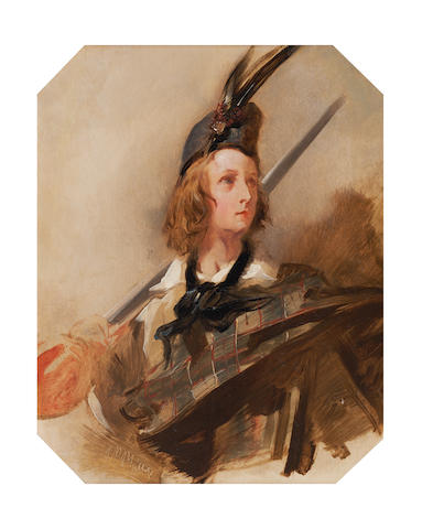 John Phillip RA John Everett Millais, aged 13, as a Highland Page 33 x 26cm