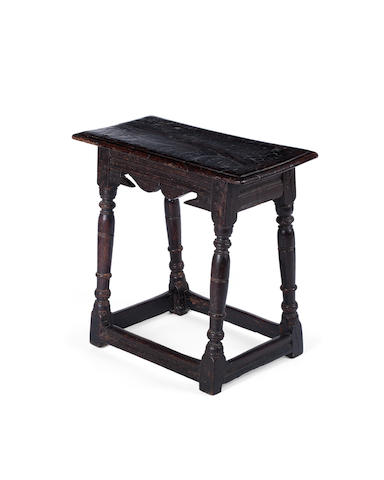 A 17th century oak joint stool