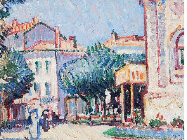 Samuel John Peploe, RSA (British, 1871-1935) Casino, Royan 27 x 35 cm. (10 5/8 x 13 3/4 in.)