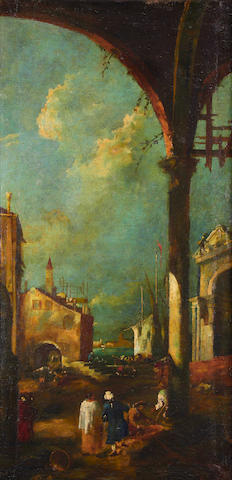 Manner of Francesco Guardi, 20th Century Venetian capriccios, a pair (2)