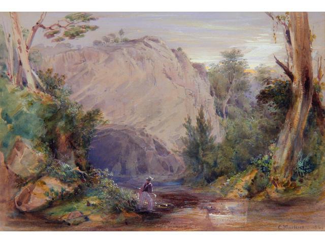 Conrad Martens (Australian, 1801-1878) Abercrombie Cave, NSW Australia