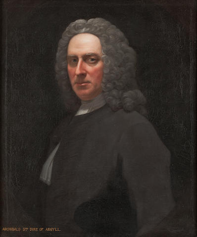 Allan Ramsay (British, 1713-1784) Archibald, 3rd Duke of Argyll 77 x 64 cm. (30 5/16 x 25 3/16 in.)