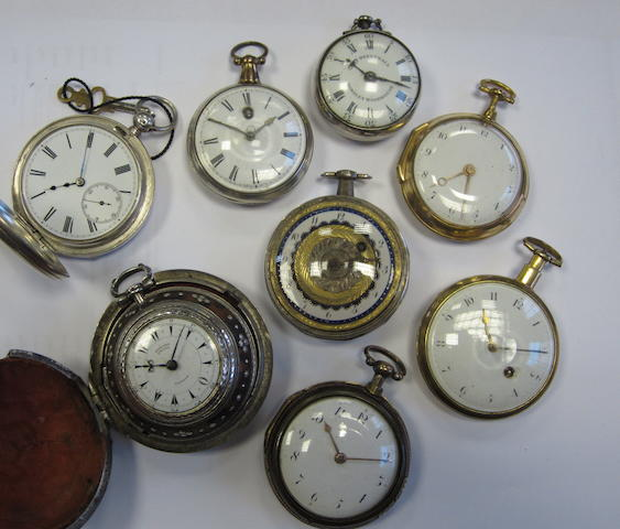 A lot of eight various pair case pocket watches