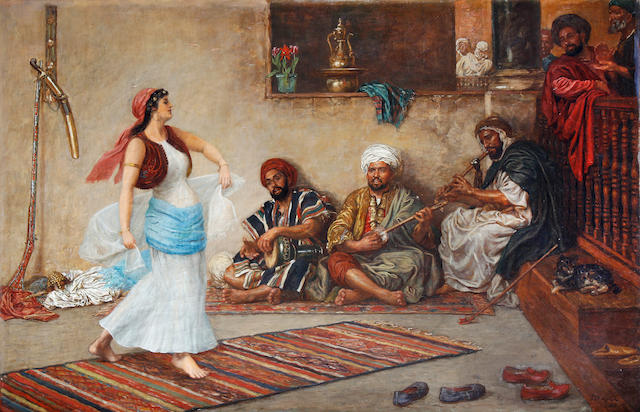 John Evan Hodgson (British, 1831-1895) An Eastern dance