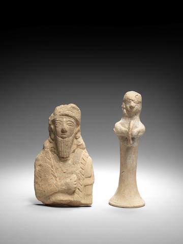 Two Cypriot pottery figures 2