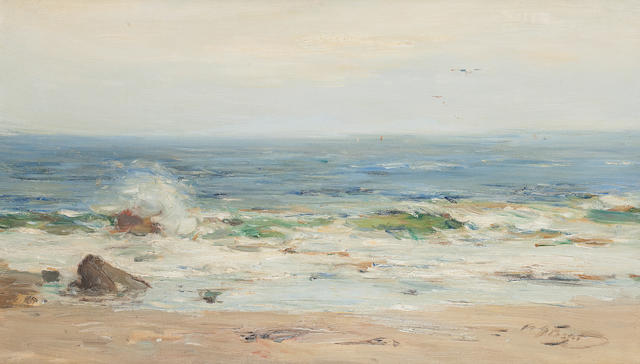William Miller Frazer, RSA (British, 1864-1961) The Shore Machrihanish 35 x 60 cm. (13 3/4 x 23 5/8 in.)